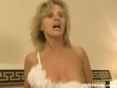 German Blonde Mature Gets Anal Sex On Bed free