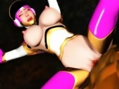 3D anime bitch gives oral sex