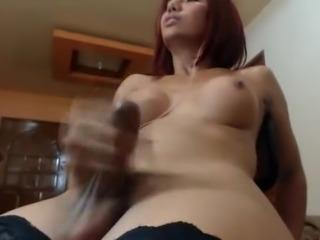 Hot shemale cums