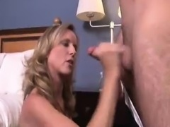 Step-mom\'s Early Home, Caught Young Guy Beating His Dick