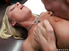 Devon Lee with big bottom plays with Johnny Sinss stiff love stick before she...