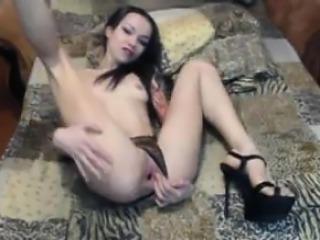 Skinny Tattooed Slut With Small Tits