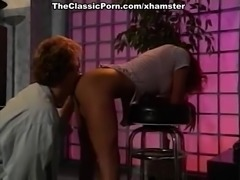 Leena, Asia Carrera, Tom Byron in vintage sex scene