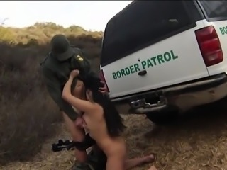 Huge boobs latin hottie pounded by border patrol officer
