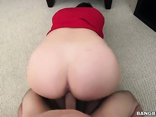 Brunette porn girl Virgo Peridot with big booty is one hot cock stroker that...