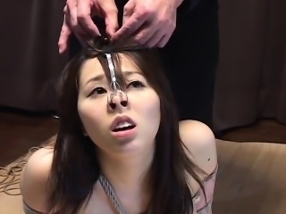 Subtitled Japanese BDSM hot wax play with voluptuous amateur