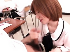 Sex crazed minx Yuria Satomi gets her nice face cum drenched