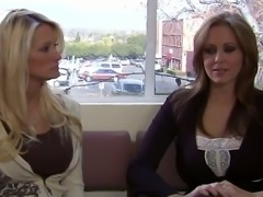 Delicious blonde Julia Ann is spreading her legs so she could be licked and...