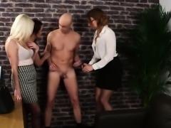 Cfnm domina flicks cock