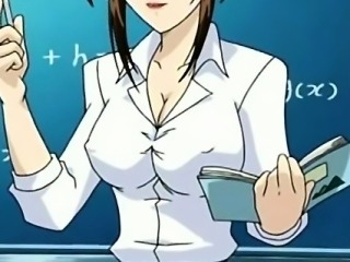 Hentai  school teacher in short skirt shows pussy