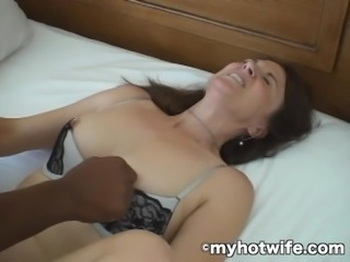 3 Hole Wife Pimped and Ass Fucked by Black Cock!