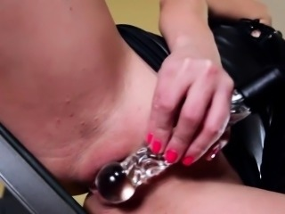 BDSM of smart babe enjoying all fetish things