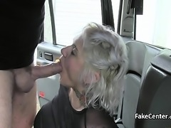 Dirty anal sex in the taxi outdoors