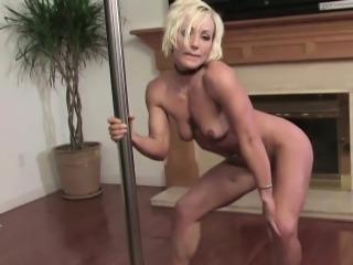Perfect MILF in Private POV Pole-Dance
