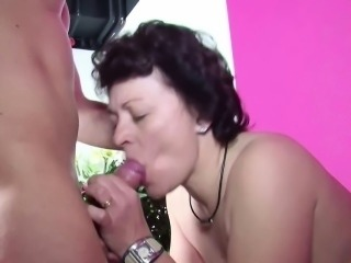 Step-Son Caught Mother Masturbate and Fuck her