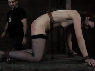 Chained up beauties get their fur pie fucked by torturer