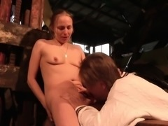 German Step-Son Seduce MILF Mother to Fuck Outdoor on Farm
