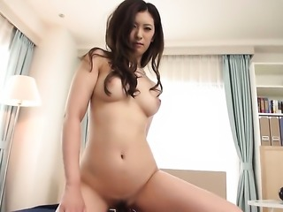Yui Kasuga is on the way to orgasm with hard cocked fuck buddy