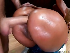 Nikita Denise with bubbly bottom is just another anal fuck toy of hard cocked...