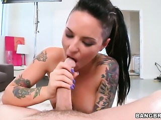 Christy Mack rides a huge meat pole