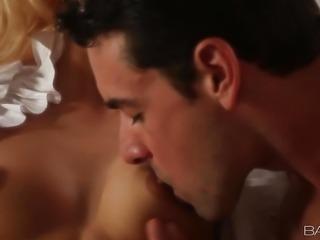 """Sofa sex with gorgeous girlfriend Erica Fontes"""
