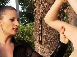 BDSM of extreme babe enjoying all fetish things