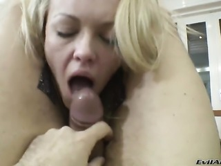 Rocco Siffredi gets turned on to the point of no return by Logan A and then fucks her cornhole after she gives suck job