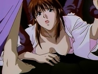 Japanese anime gets szueezed her tits and drilled by tentacl