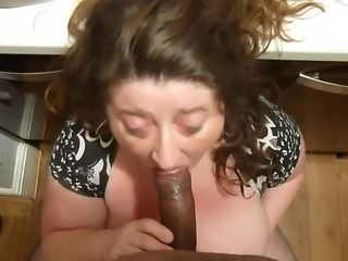 British BBW Sucking cock pt 2