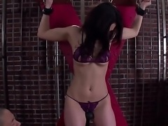 Japanese slave girl Sera Ichijo in sexy lingerie gets her Asian pussy...