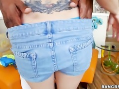Brooklyn Jade makes guys sexual fantasies come true with her help of her...