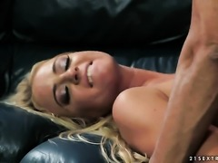 Blonde shows her dick sucking skills