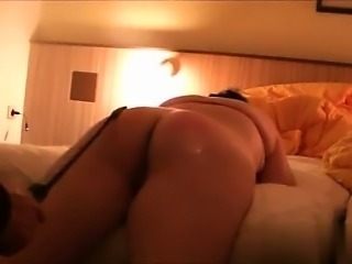 I am on CHEAT-DATE.COM - Subwife spank and fuck on