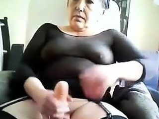 Horny Granny With A Toy