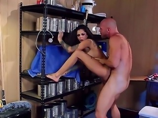 Johnny Sins is getting a visit from a super slut in the trailer park. He...