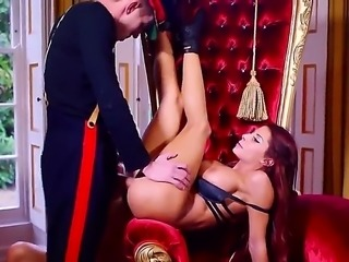 Aletta Ocean, Madison Ivy and Danny D are doing a tour of London. They stop at a palace and walk inside. Madison has always wanted to have sex there, so they have a threesome.