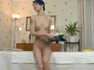 Delicious darling is getting wild massage on her sexy body