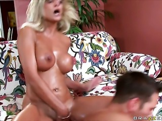Klarisa Leone with big jugs gets her back yardseriously drilled by Johnny Castle