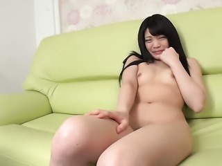 Teen with tiny boobs getting nude for your viewing entertainment in solo action