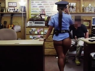 Sexy curvy Police fucked from behind
