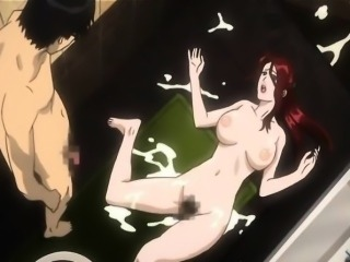 Japanese hentai hardcore fucked in the bathroom