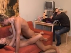 Stranger buys this gal and starts undressing her not fast