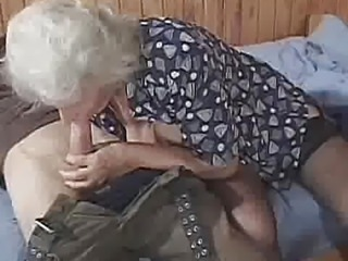 """Granny devours this hard dick"""