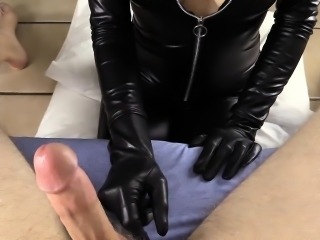 Giving YOU a teasing blowjob in my catsuit to a BIG...