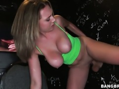 Brooke Wylde with juicy bottom finds hot guy handsome and takes his hard fuck...