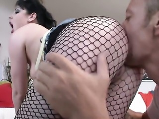 Rocco Siffredi stretches unthinkably hot Vikis butt with his rock hard meat stick to the point of no return