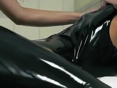 Top strapon babes enjoy perfect lesbians penetrate