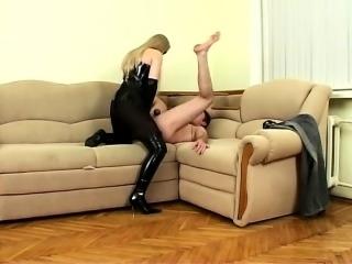 Femdom Fucks Man Slave