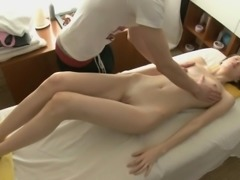 Hawt bombshell receives wild from behind after massage