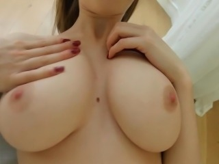 Oiled up jugs tit fucked
